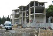 Construction of the hotel in the city of Yalta.